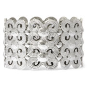 Decree® Silver-Tone Dark Sparkle Stretch Bracelet
