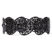 Decree® Black Heart Stretch Bracelet
