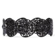 Decree® Black Heart Stretch Bracelet