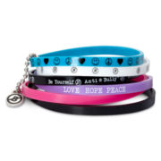 6-pc. Anti-Bully Dark Multicolor Bracelet Set