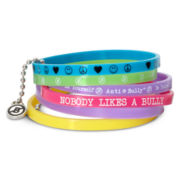 6-pc. Anti-Bully Bright Multicolor Bracelet Set