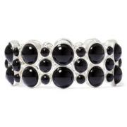 Liz Claiborne® Jet Black Stretch Bracelet
