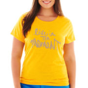jcp™ Short-Sleeve Graphic Tee - Tall