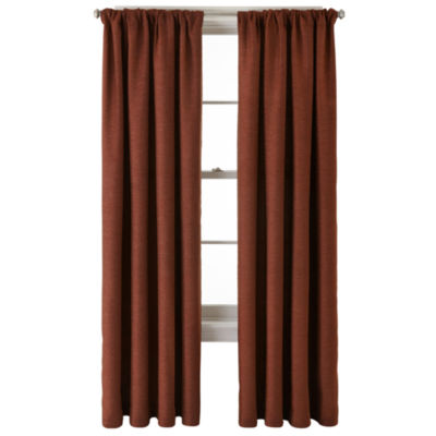this review is fromjcpenney home monroe tweed rod pocketback tab curtain panel - Coloration Hnn
