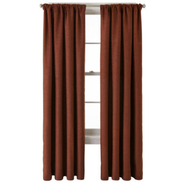 jcpenney.com | JCPenney Home™ Monroe Tweed Rod-Pocket/Back-Tab Curtain Panel
