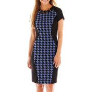 Trulli Short-Sleeve Houndstooth Dress