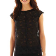 Worthington® Sleeveless Single-Pleat Blouse