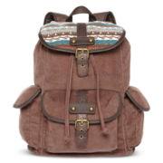 Olsenboye® Fair Isle Corduroy Backpack