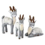 Snowy Day Reindeer Tabletop Decor