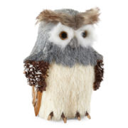 Snowy Day Tabletop Owl Decor
