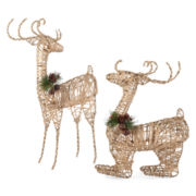 Snowy Day Jute Reindeer Decor