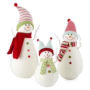 Peppermint Twist Snowman Decor