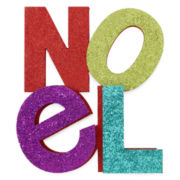 Glitter Brights Noel Letter Decor
