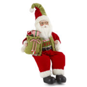Sitting Santa Figurine