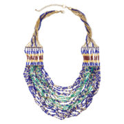 Mixit™ Multi Blue Green Seadbead Necklace