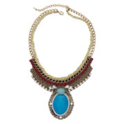 Mixit™ Blue Stone Bib Necklace