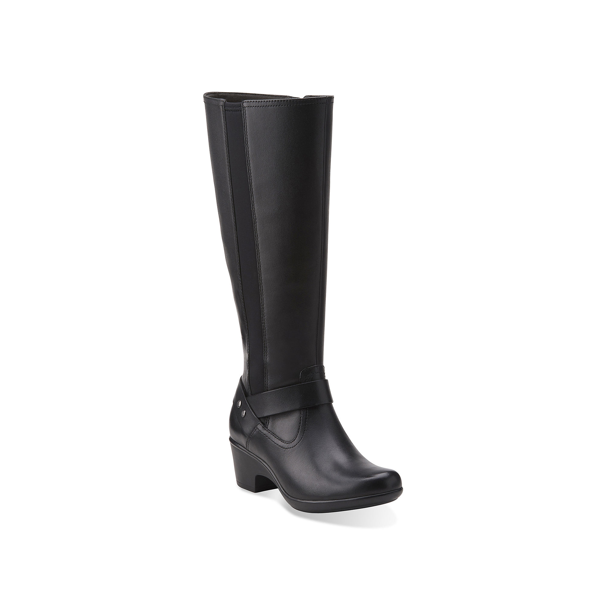 Clarks Malia Waves Leather Womens Riding Boots plus size,  plus size fashion plus size appare