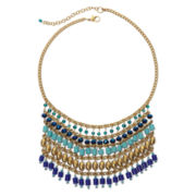 Arizona Multi-Row Bead Fringe Necklace