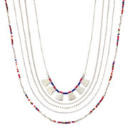 Arizona Multi-Row Seed Bead Necklace