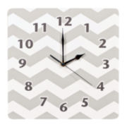 Trend Lab® Dove Gray Chevron Wall Clock