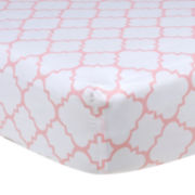 Trend Lab® Pink Sky Quatrefoil Crib Sheet