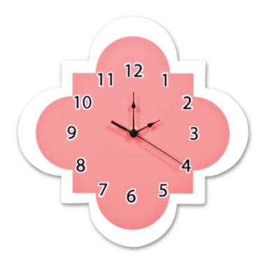 jcpenney.com | Trend Lab® Coral Quatrefoil Wall Clock