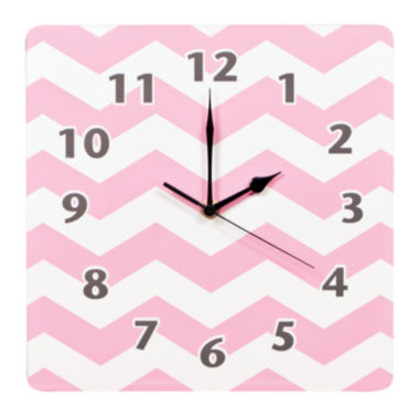 jcpenney.com | Trend Lab® Pink Sky Chevron Wall Clock