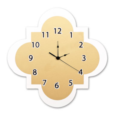 jcpenney.com | Trend Lab® Gold Quatrefoil Wall Clock
