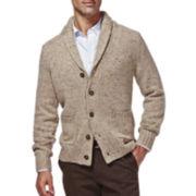 Haggar® Shawl-Collar Cardigan Sweater