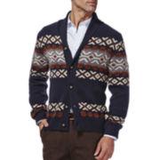 Haggar® Fair Isle Chunky Knit Cardigan