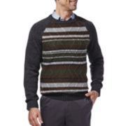 Haggar® Patterned Raglan-Sleeve Sweater