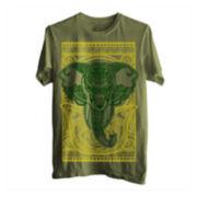Tribal Elephant Short-Sleeve Graphic Tee