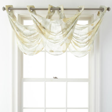 jcpenney.com | JCPenney Home™ Corina Grommet-Top Sheer Waterfall Valance