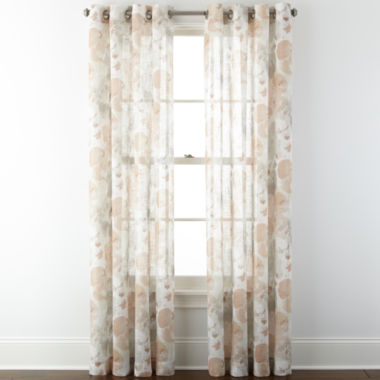jcpenney.com | JCPenney Home™ Corina Grommet-Top Sheer Panel