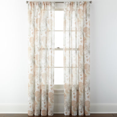 jcpenney.com | JCPenney Home™ Corina Rod-Pocket Sheer Panel