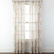 JCPenney Home™ Corina Rod-Pocket Sheer Panel