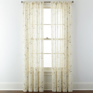 jcpenney.com | JCPenney Home™ Arbor Leaf Rod-Pocket Sheer Panel