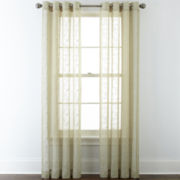 JCPenney Home™ Ingals Grommet-Top Sheer Panel