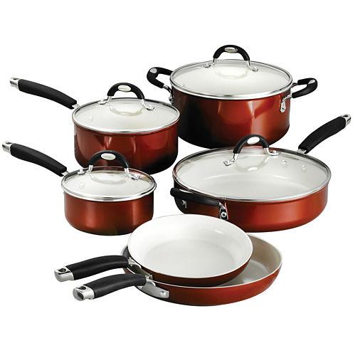 Tramontina Style Ceramica 10-pc. Metallic Copper Cookware Set