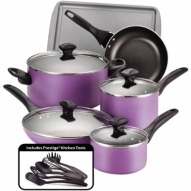 jcpenney.com | Farberware® 15-pc.Nonstick Cookware Set with Prestige® Kitchen tools