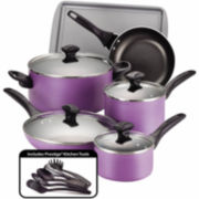 Farberware® 15-pc.Dishwasher-Safe Nonstick Cookware Set includes Prestige® Kitchen tools