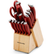 Kitchen Aid® 16-pc. Stamped Delrin Knife Set