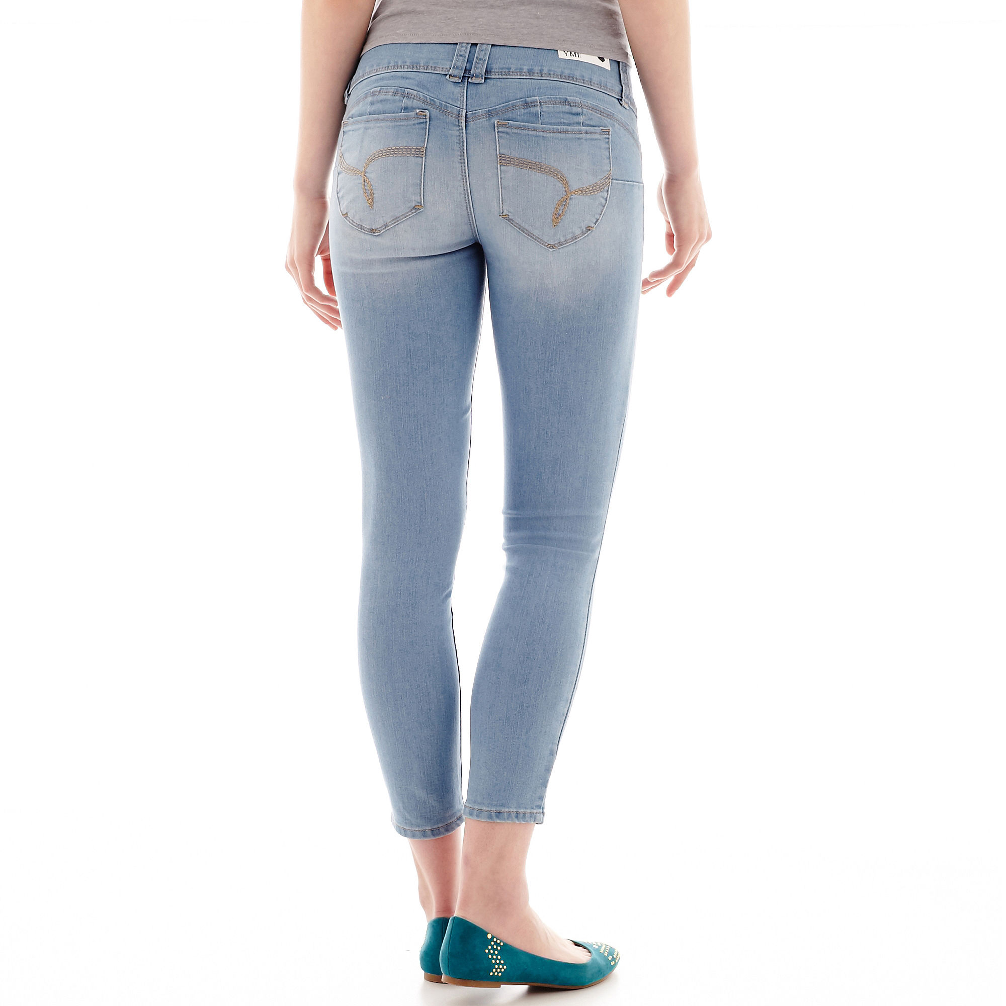 YMI Wanna Betta Butt Denim Cropped Jeans
