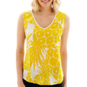 Worthington® Sleeveless Print Blouse