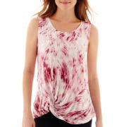 a.n.a® Sleeveless Twist-Front T-Shirt