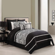 Victoria Classics Laken Zebra 8-pc. Comforter Set