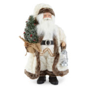 "North Pole Trading Co. 18"" White Fur Santa"