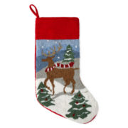 North Pole Trading Co. Reindeer Stocking