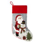 North Pole Trading Co. Santa and Snowman Stocking