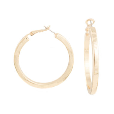 jcpenney.com | a.n.a® Gold-Tone Large Hoop Earrings